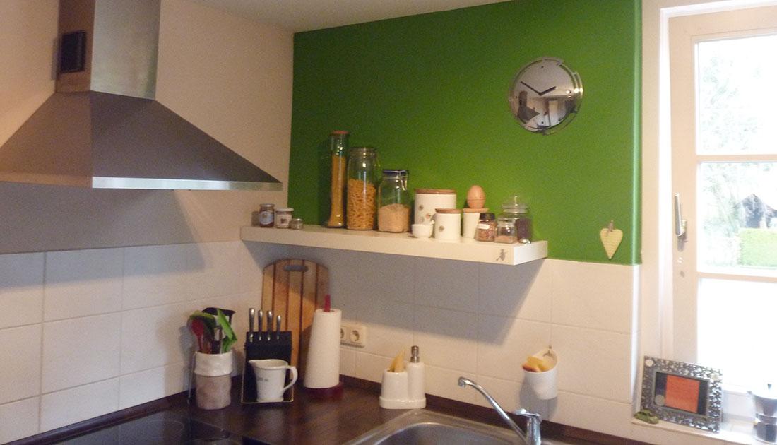 Eine Ansicht der neuen Küche