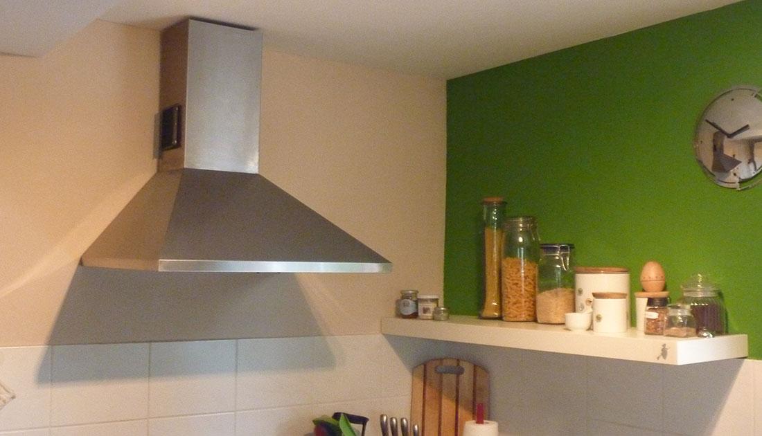Ansicht der neuen Küche
