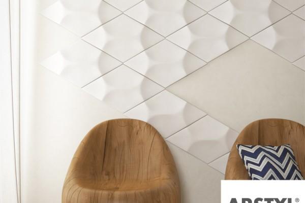 3-D Wandelemente Beispiel Wohnzimmer